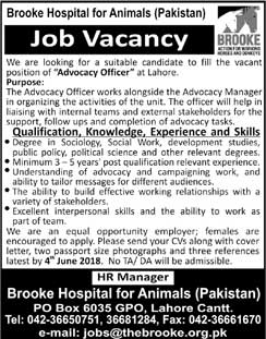 Jobs in Brooke Hospital for Animals 29 May 2018