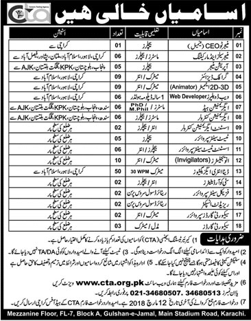 Jobs in Career Testing Agency in Karachi 18 Feb 2018