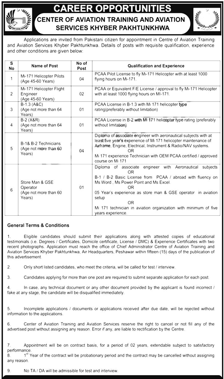 Jobs In Center Of Aviation Training and Aviation Services 2019