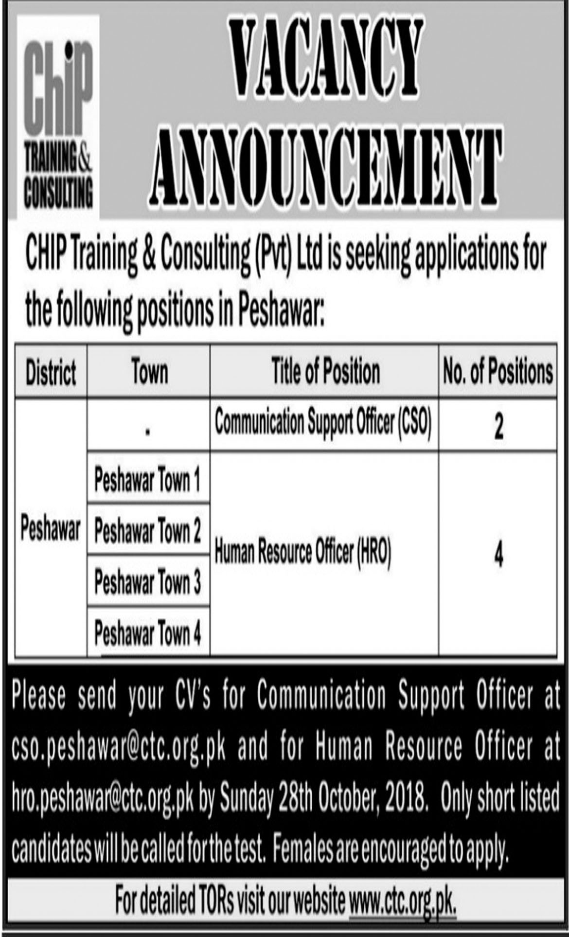 Jobs In Chip Training & Consulting 23 Oct 2018