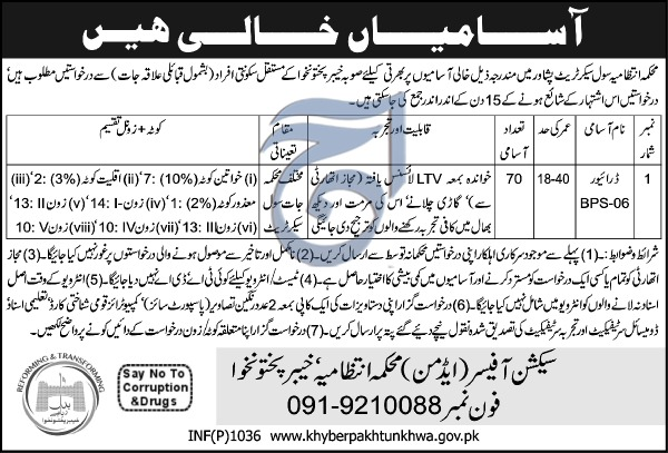 Jobs In Civil Secretariat Department Peshawar 01 Mar 2018