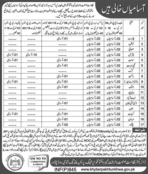 Jobs In Department Of Khyber Pakhtunkhawa 23 Feb 2018
