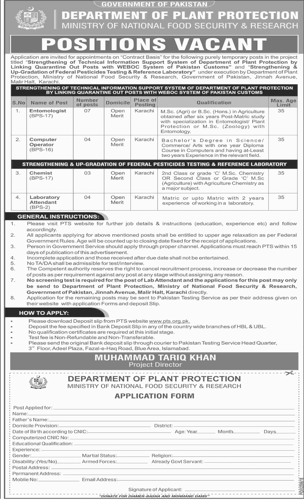 Jobs In Department Of Plant Protection 11 Dec 2018