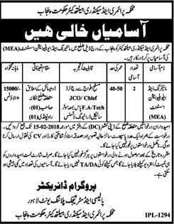 Jobs In Department Of Primary And Secondary  Health Care 31 Jan 2018