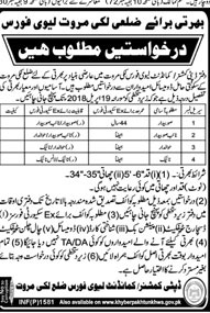 Jobs In Deputy Commissioner Commander Levi Force 02 Apr 2018