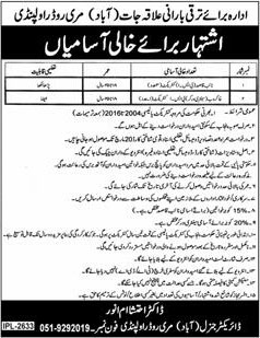 Jobs In Development Department Of Rawalpindi 01 Mar 2018