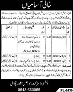 Jobs In District Accounts Office Chakwal 24 Feb 2018