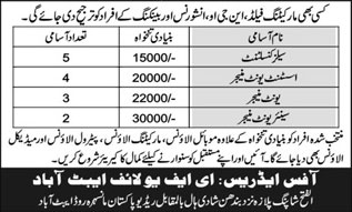 Jobs In EFU Life Insurance Company 15 Feb 2018