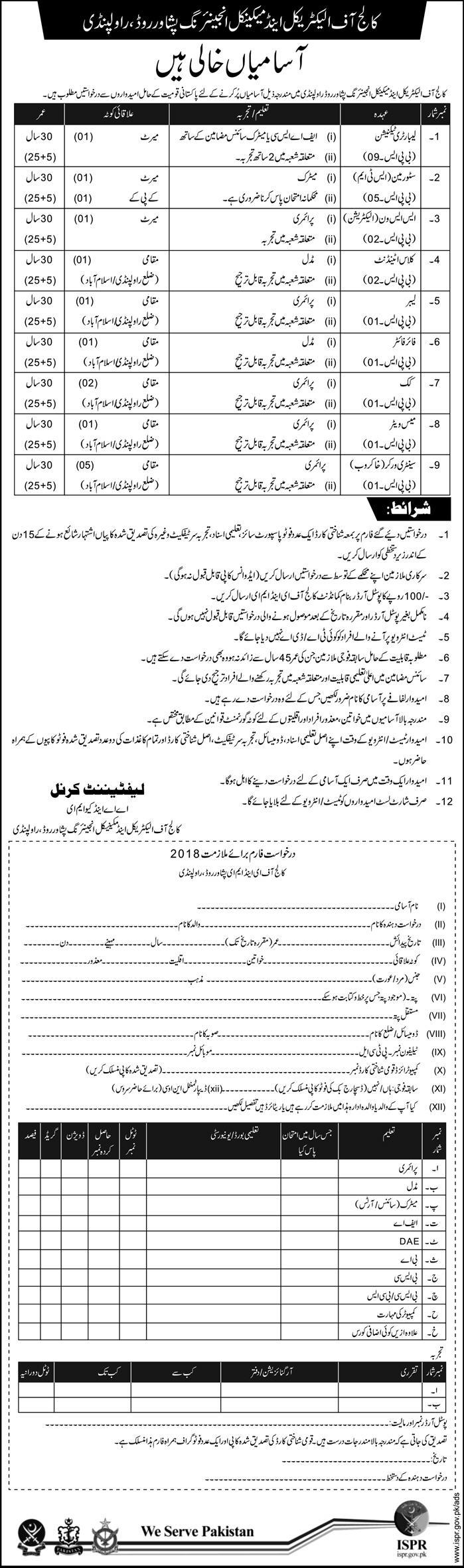 Jobs in Electrical and Mechanical Engineering in Peshawar 11 Feb 2018