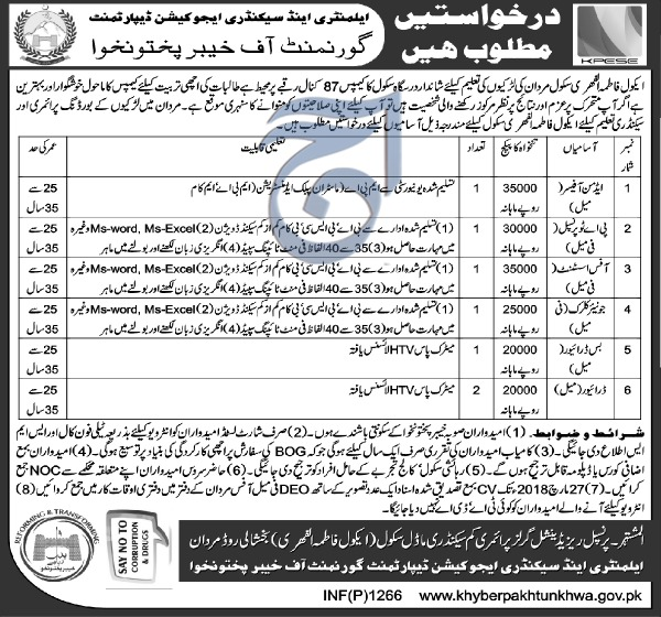 Jobs In Elementary And Secondary Education Department 16 Mar 2018