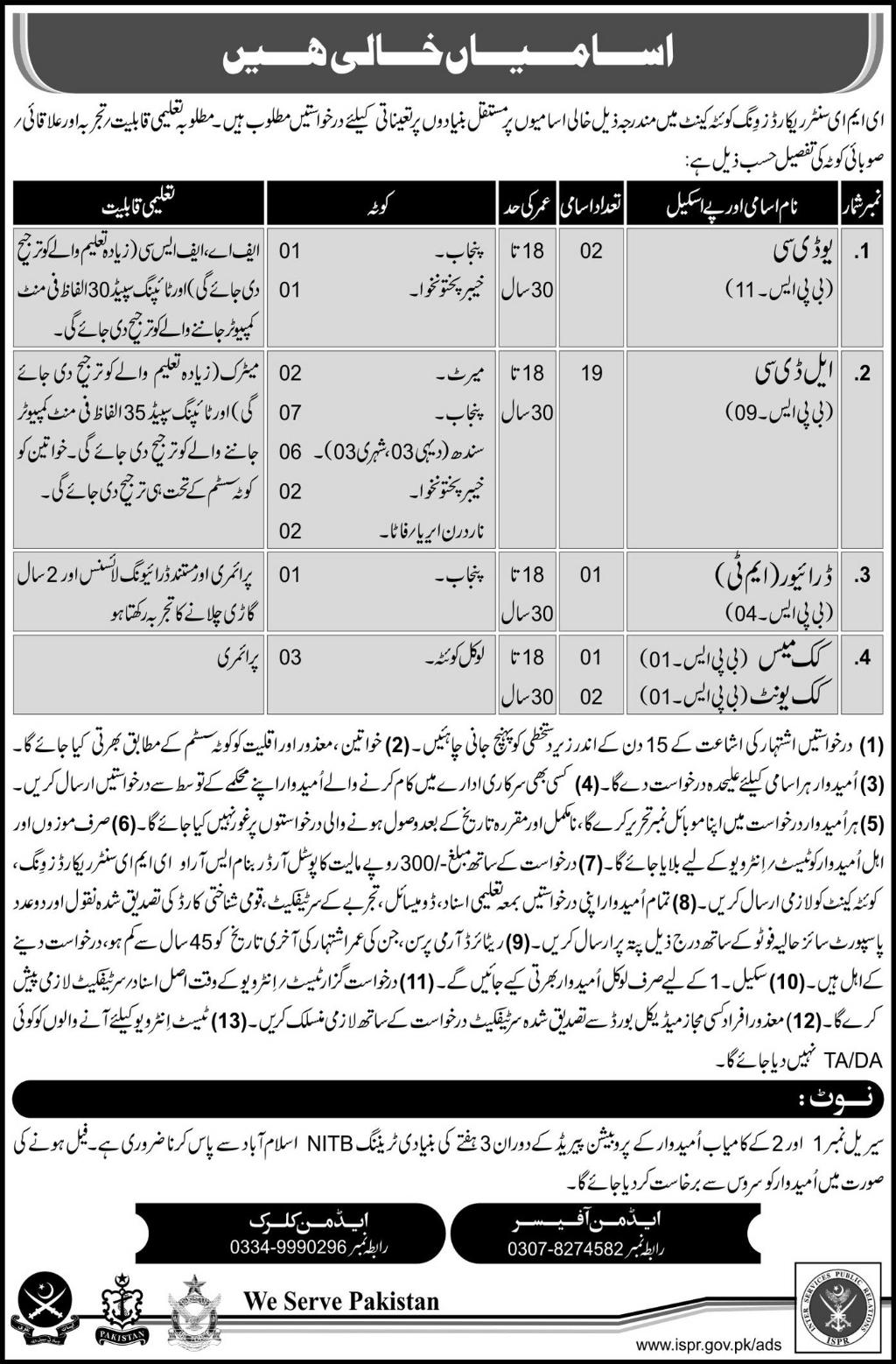 Jobs in EME Center Records Wing Quetta 07 May 2018