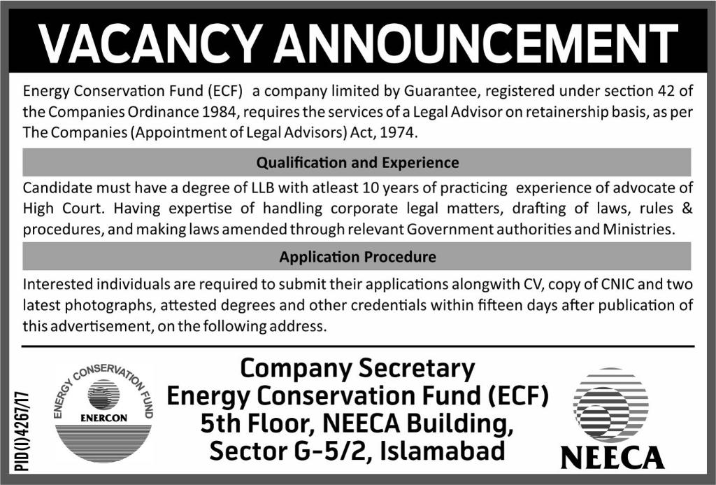Jobs In Energy Conservation Fund 09 Feb 2018