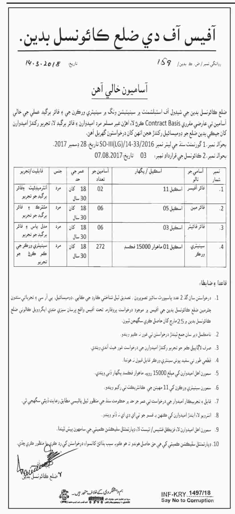 Jobs In Establishment Station Wing 19 Mar 2018