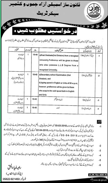 Jobs In Govt Of Azad Jammu And Kashmir 27 Mar 2018