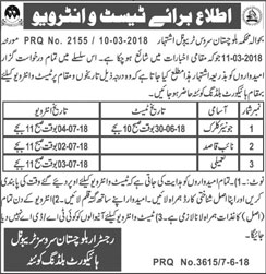 Jobs in Govt of Balochistan Tribunal Service 08 June 2018
