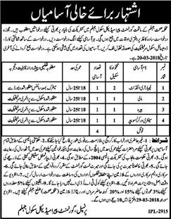 Jobs In Health Department Of Jhelum 09 mar 2018