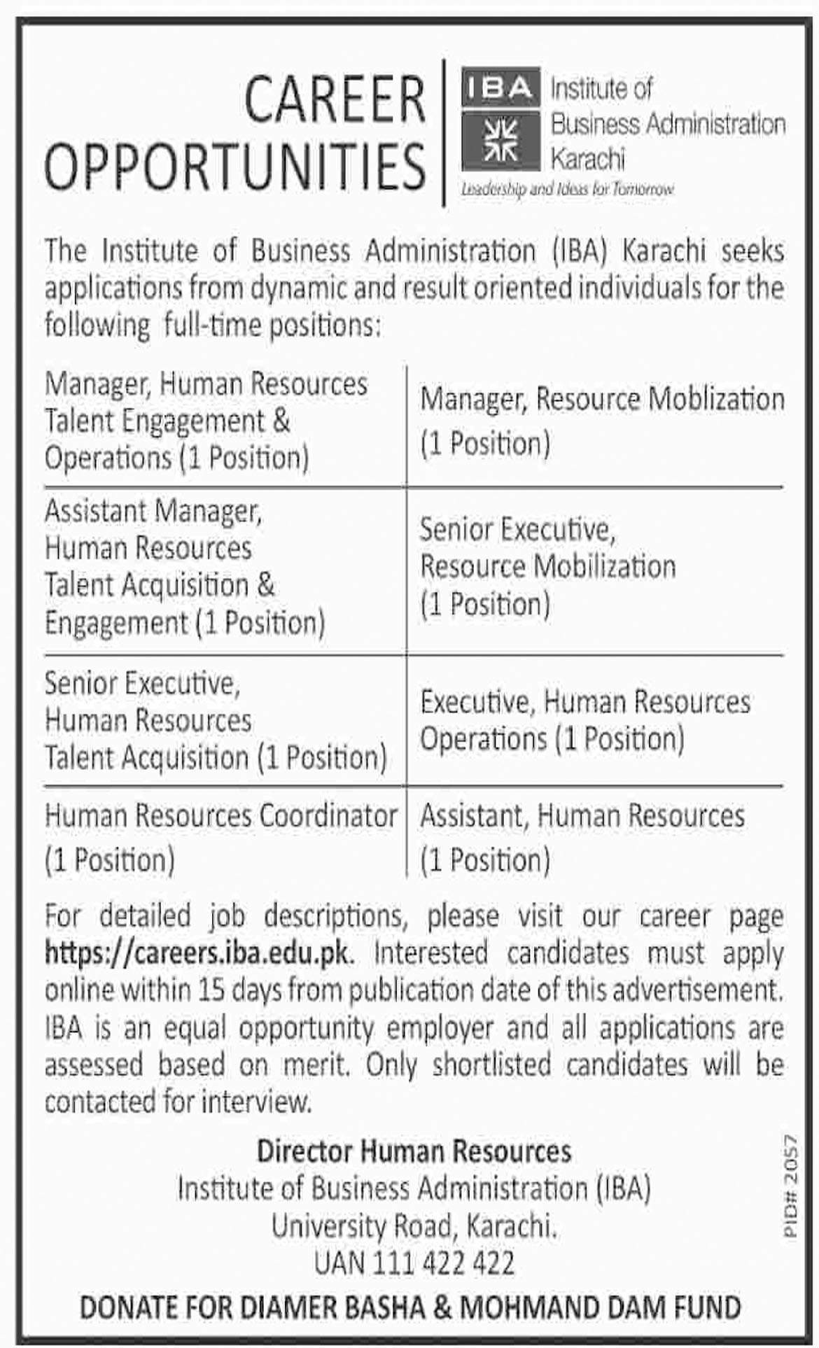 Jobs In Institute Of Business Administration IBA 03 Dec 2018