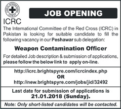 Jobs In International Committee Of The Red Cross 15 Jan 2018