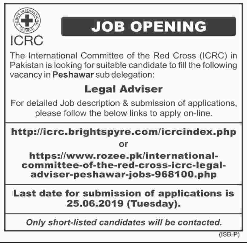Jobs In International Committee of the Red Cross 2019