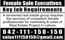 Jobs in Marketing and Sales of Real Estate 17 Feb 2018