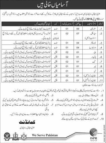 Jobs in Military Hospital Rawalpindi 30 March 2018
