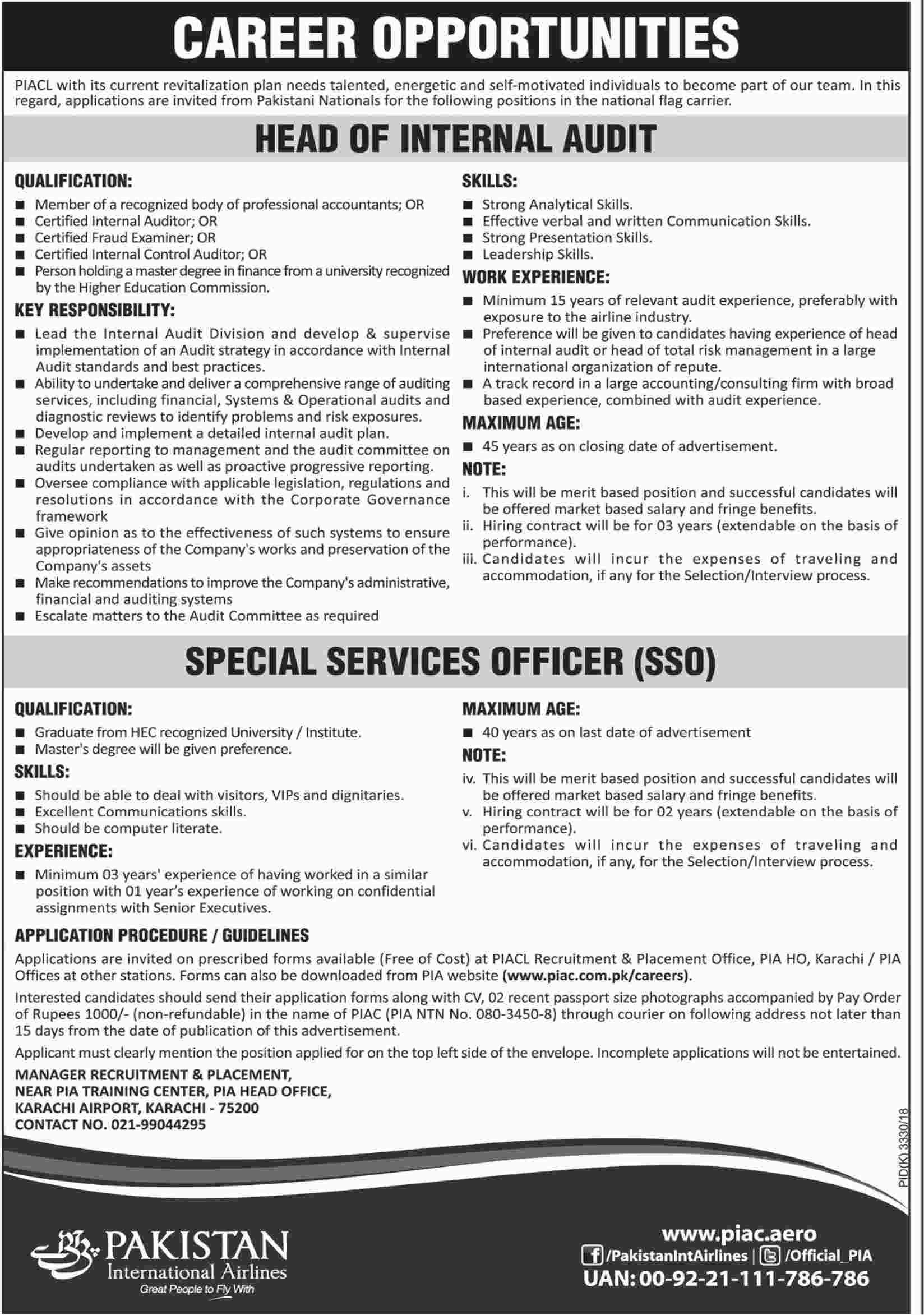Jobs In Pakistan International Airline 06 Mar 2018