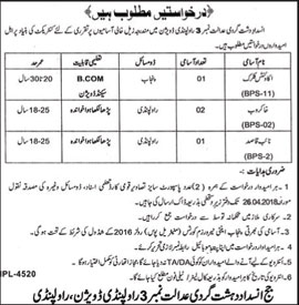 Jobs in Rawalpindi Criminal Court 13 April 2018