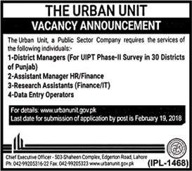 Jobs In The Urban Unit 02 Feb 2018
