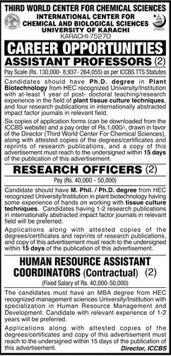 Jobs in Third World Center For Chemical Sciences 04 April 2018