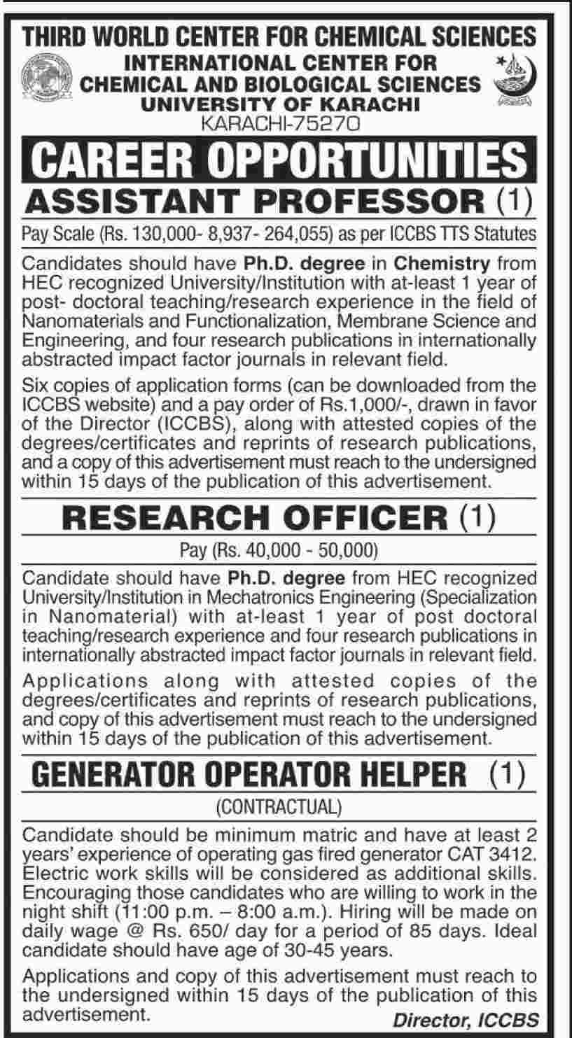 Jobs In Third World Center For Chemical Sciences 16 Jan 2018