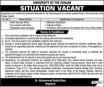 Jobs in University of The Punjab 30 March 2018