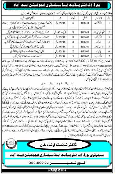 Junior Clerk Jobs in Abbottabad