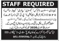 Labooratory Assistant jobs in Chakwal