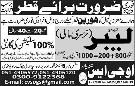 Labour Nursery Mali Jobs In Qatar 2019