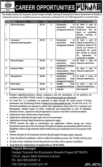 Planning And Development Board JObs