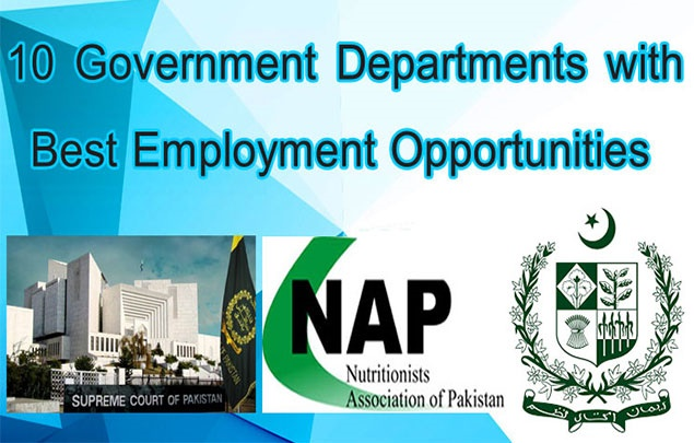 10 Government Departments with Best Employment Opportunities