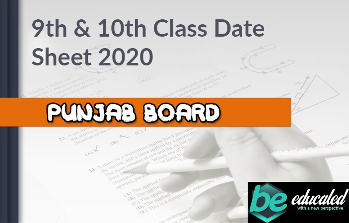 10th Class 2020 Exam Date Sheet has been Announced on the 30th of January 2020