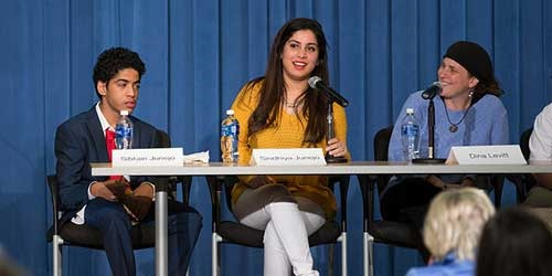 Handicapped Pakistani student regarded at Art Festival in USA