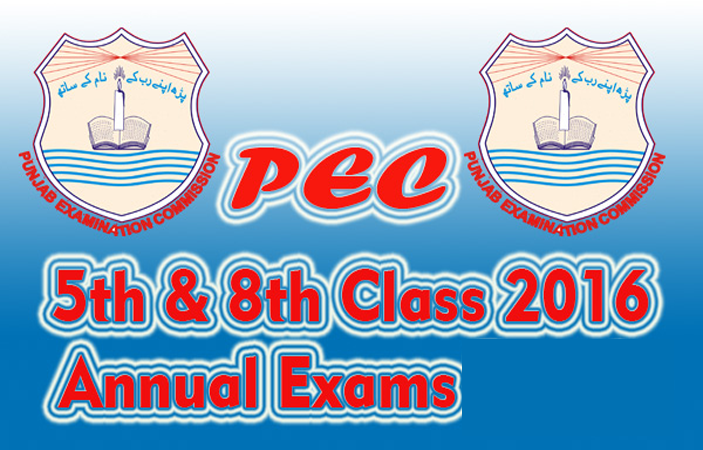 PEC conducted 5th Class and 8th Class 2017 exams successfully