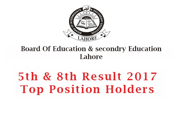Punjab Board 8th and 5th Class Position Holders 2017