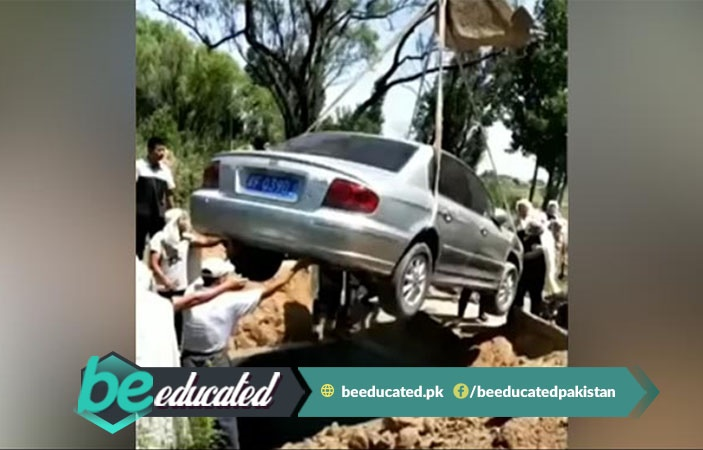 Chinese Man Buried With His Car According to His Dying Wish
