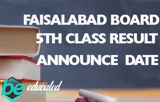 Faisalabad Board 5th Class Result 2020