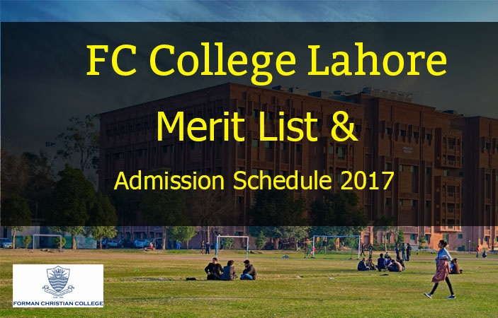 FC College Admission 2017 & Merit List for Intermediate Admissions
