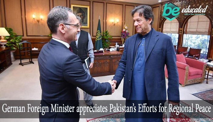 German Foreign Minister appreciates Pakistan's Efforts for Regional Peace