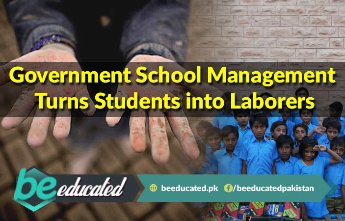 Government School Management Turns Students into Labours