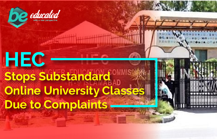HEC Stops Substandard Online Classes Due to Complaints