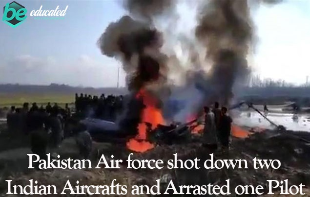 Indian Fighter Jets Shot Down By Pak Air Force