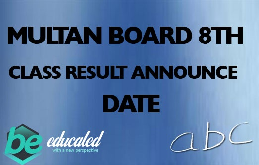 Multan Board 8th Class Result 2020