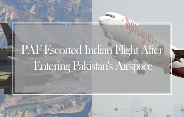 PAF escorted Indian Flight after entering Pakistan's Airspace