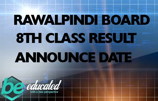 Rawalpindi Board 8th Class Result 2020